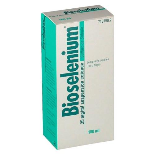 BIOSELENIUM 25 mg/ml  SUSPENSION CUTANEA , 1 frasco de 100 ml