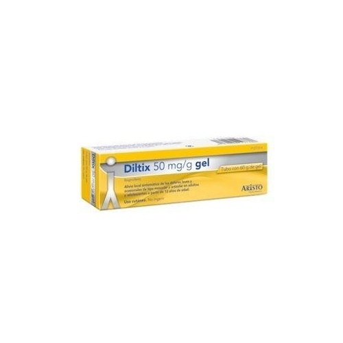 DILTIX 50 mg/g GEL , 1 tubo de 30 g