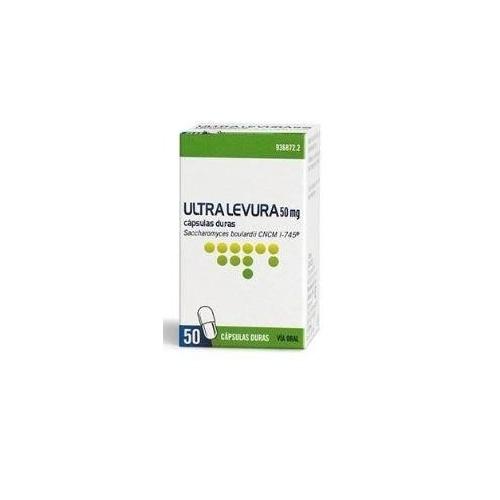 ULTRA-LEVURA 50 MG CAPSULAS DURAS, 20 cápsulas