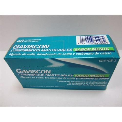 GAVISCON COMPRIMIDOS MASTICABLES SABOR MENTA , 48 comprimidos (BLISTER)
